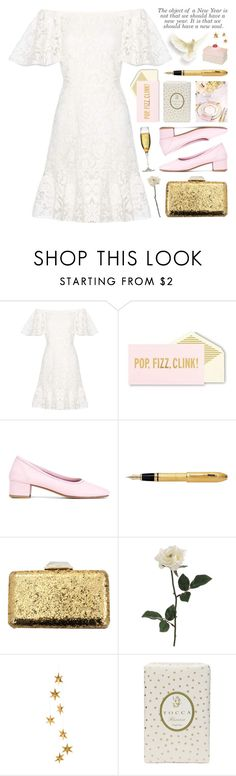 """✨ happy new year ✨"" by jesuisunlapin ❤ liked on Polyvore featuring Valentino, Kate Spade, Maryam Nassir Zadeh, Fountain, KOTUR, Livingly and Tocca"
