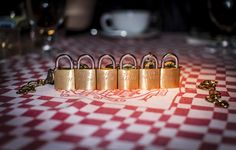 21 Club New York City - Padlocks to celebrate a marriage, an anniversary and a birthday