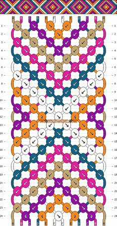 Normal Friendship Bracelet Pattern #2146