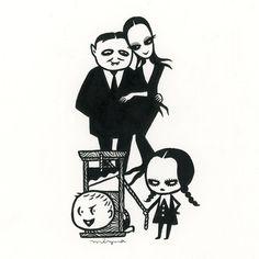 "1,605 Likes, 43 Comments - Mizna Wada  和田みずな (@miznawada) on Instagram: ""#mabsdrawlloweenclub Day 13: Addams Family """