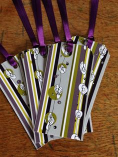 Purple Doodle Gift Tags 5 Pack-- Day Dream Hedgerows £3.20
