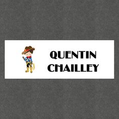 """16 Etiquettes scolaires personnalisées Thème """"Cowboy Garçon"""" : Stickers par creerpourvous"""