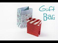 How to Make an Origami Gift Bag - DIY: Paper Mini Gift Bag - YouTube