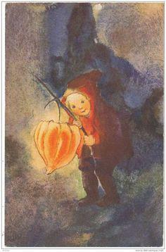 Chinese Lantern, illustration by Mili Weber (1891-1978)