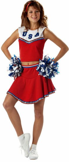 Adult Red Patriotic Cheerleader Costume - Candy Apple Costumes  sc 1 st  Pinterest & 12 best Costume ideas images on Pinterest | Costume ideas ...