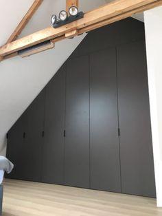 Loft Room, Bedroom Loft, Home Decor Bedroom, Cottage Renovation, Attic Renovation, Bedroom Built In Wardrobe, Loft Storage, Modern Closet, Attic Bedrooms