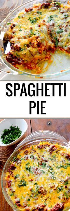 Spaghetti Pie -  7 WWP+ per serving and 331 calories