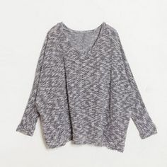 $7.39 Bat-Wing Sleeves V-Neck Acrylic Refreshing Style Candy Color Cheap Oversized Sweater For Women