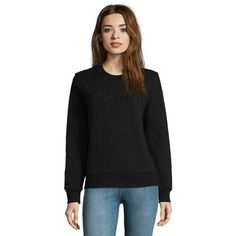 now on eboutic.ch - black pullover for women Calvin Klein, Underwear, Pullover, Sweatshirts, Sweaters, Clothes, Black, Fashion, Fashion Styles