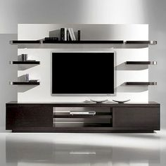 Modern tv wall unit flat screen mount living room projects to try wall decor wall design . Contemporary Tv Units, Modern Tv Wall Units, Modern Tv Room, Post Contemporary, Living Room Wall Designs, Living Room Decor, Decor Room, Ikea Decor, Tv Wanddekor