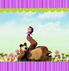 Resultado de imagem para masha and the bear birthday decorations