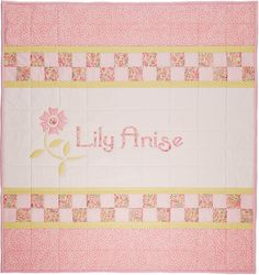 Spring has sprung all over this beautiful quilt! Individually handcrafted by a dedicated quilting artisan on the North Folk of Long Island, New York, this fabric work of art can be a source of good cheer throughout a lady's life from babyhood through adulthood. Lovingly pieced and sewn in pinks, Oliver & Adelaide's Art Spring Flower quilt is the kind of treasure that's perfect for a new baby girl, but could also make the perfect gift for an older child.