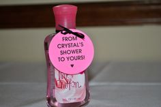 Crystal's bridal shower favors