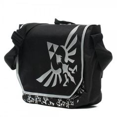Nintendo Zelda Black Messenger Bag