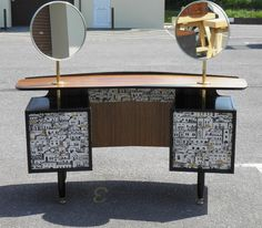 G-PLAN UPCYCLED BLACK AND TOLA DRESSING TABLE, 1950'S LIBRENZA RANGE – Ipplepen Interiors