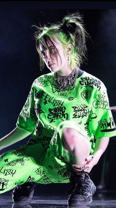 Green suits her very well and pretty much any color – Billie Eilish – Avacado Billie Eilish, Celebs, Celebrities, Music Artists, My Idol, My Love, Photos, Photographs, Pictures