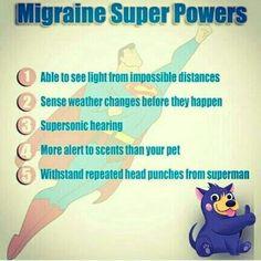 migraine super powers