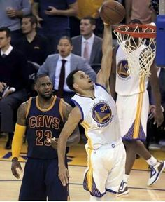 Stephen Curry... ( and just look at LeBron's face)