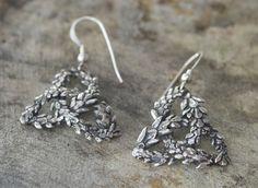 Celtic Earrings Sterling Silver Celtic Knot by SilverCedarJewelry