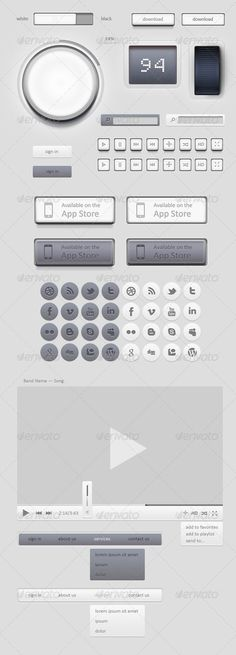 Light GUI Graphical User Interface Set
