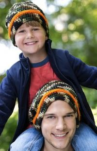 Camo Crochet Hats: The perfect crochet pattern to make for the boys in your life.