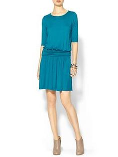 Tinley Road 3/4 Sleeve Ruched Knit Mini Dress | Piperlime