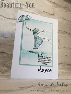 The Craft Spa - Stampin' Up! UK independent demonstrator : Beautiful You - Dancer on Beach...
