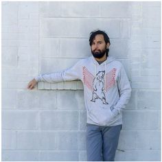 Men's #geometric bear hoodie