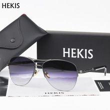 293ade2282114 HEKIS Brand Men s Sun Glasses fashion Mirror Driving Sunglasses Oculos  masculino Male Eyewear Accessories For Men