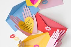 DIY Pop Up Valentines Template from The House that Lars...