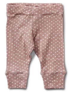 MilkBarn Baby Leggings in Rose Dot