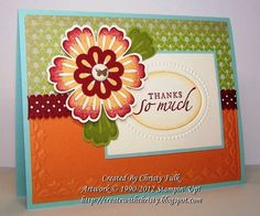 Mixed Bunch Thank You by StampinChristy - Cards and Paper Crafts at Splitcoaststampers