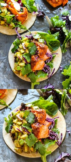 Orange Glazed Cajun Salmon Tacos (My Favorite Tacos Ever) - Layers of Happiness