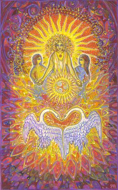 Tarot de l'ange liberté+ - MYRRHA, créatrice, peintre, artiste de l'âme et de la lumière |  XIX LA COURONNE DE LUMIERE