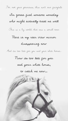 "Lyrics from ""White Horse"" by Taylor Swift"