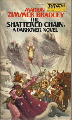 191 Marion Zimmer Bradley The Shattered Chain George Barr Darkover. Sci Fi Novels, Sci Fi Books, Fiction Novels, Pulp Fiction Comics, Science Fiction Books, Fantasy Book Covers, Book Cover Art, Book Art, Best Novels