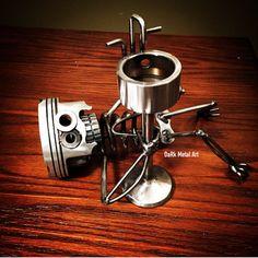 Items similar to Plumber Metal Art on Etsy Car Part Art, Pipe Wrench, Pedestal Sink, Metal Art, Scrap, Etsy, Pedestal Basins, Metal Yard Art