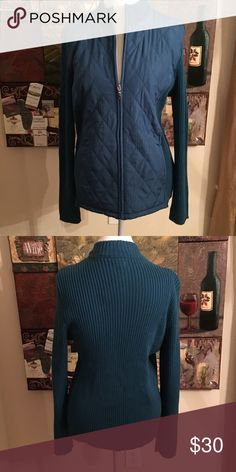 QUILTED SWEATER JACKET Legion Blue size L NWT Quilted Sweater Zip Up Jacket Legion Blue size L NWT croft & barrow Jackets & Coats