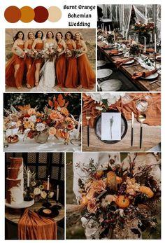 Wedding Color Pallet, Fall Wedding Colors, Burgundy Wedding, Wedding Color Schemes, Rustic Wedding Colors, October Wedding Colors, November Wedding, Orange Wedding Themes, Burnt Orange Weddings