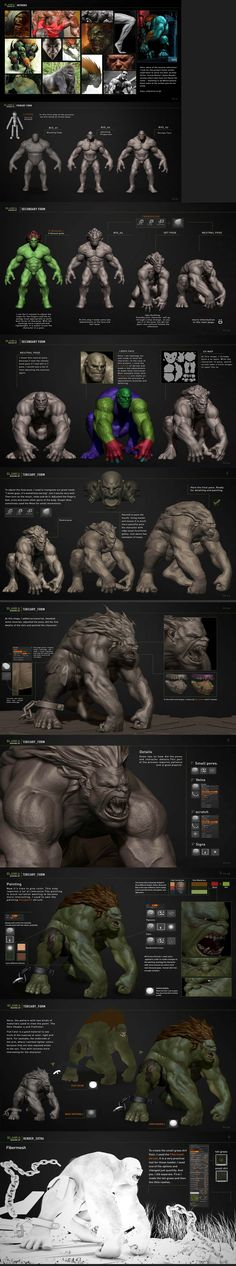 404fa92c40f5c3305982aa897a2a075c.jpg (2500×13419) #3d #sculpting #tutorials