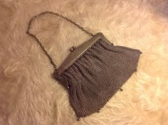 Mesh purse signed vintage antique SALE by BlessedBeeMelisa on Etsy, $25.00