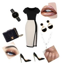 """LuziiAnnaOotd🖤"" by lusiiannasdreams on Polyvore featuring beauty, Cerasella Milano, Chanel, ROSEFIELD and Warehouse"