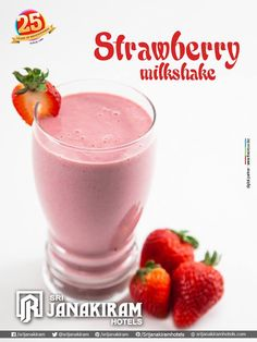 "#StrawberryMilkShake Made with fresh strawberries and blended with milk, sugar and ice. ""Tastes yummy and delicious!"""