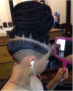 Box Braids With Undercut Picture pin on fierce hair Box Braids With Undercut. Here is Box Braids With Undercut Picture for you. Box Braids With Undercut triangle box braidsundercut. Box Braids With Unde. Box Braids Hairstyles, Shaved Side Hairstyles, My Hairstyle, Cool Hairstyles, Undercut Hairstyles, Updo, Black Girl Braids, Girls Braids, Afro Punk