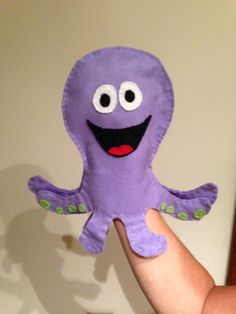 PYP Learner Profile: OPEN-MINDED octopus hand puppet