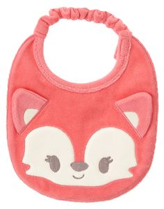 Baby Soft Strawberry Velour Fox Bib by Gymboree New Baby Boys, My Baby Girl, Cute Outfits For Kids, Toddler Outfits, Baby Doll Accessories, Baby Suit, Baby Sewing Projects, Unisex Baby, Baby Bibs