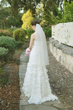 Wedding veil bridal veil one tier cut edge veil in by madametulle