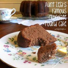 Wendy See Wendy Do: Aunt Lela's Chocolate Pound Cake