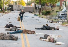 The Walking Dead Season 7 Episode 13 'Bury Me Here' - Carol Peletier (Melissa McBride) leaves her house of solitude and goes to the Kingdom to see King Ezekiel. - Photo by Gene Page/ AMC