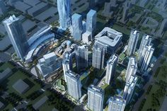 Greenland Group Chengdu East Village CBED Plots, China by Aedas